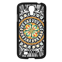 High Contrast Mandala Samsung Galaxy S4 I9500/ I9505 Case (black) by linceazul