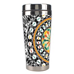 High Contrast Mandala Stainless Steel Travel Tumblers by linceazul