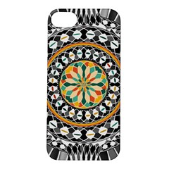 High Contrast Mandala Apple Iphone 5s/ Se Hardshell Case by linceazul