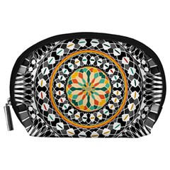 High Contrast Mandala Accessory Pouches (large)  by linceazul