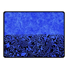 Modern Paperprint Blue Fleece Blanket (small) by MoreColorsinLife