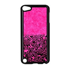 Modern Paperprint Hot Pink Apple Ipod Touch 5 Case (black) by MoreColorsinLife