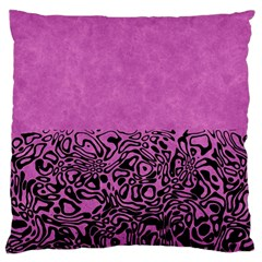 Modern Paperprint Pink Large Cushion Case (two Sides) by MoreColorsinLife
