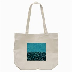 Modern Paperprint Turquoise Tote Bag (cream) by MoreColorsinLife
