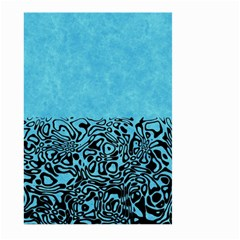 Modern Paperprint Turquoise Large Garden Flag (two Sides) by MoreColorsinLife