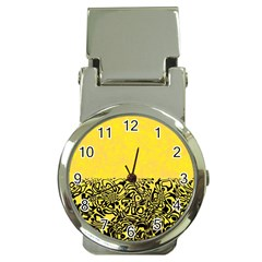 Modern Paperprint Yellow Money Clip Watches by MoreColorsinLife