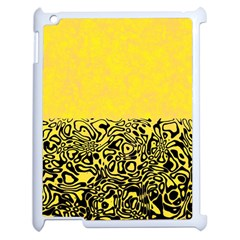 Modern Paperprint Yellow Apple Ipad 2 Case (white) by MoreColorsinLife