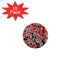 Splatter Abstract Texture 1  Mini Buttons (10 Pack)  by dflcprints