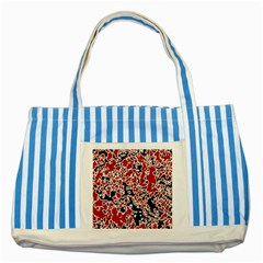 Splatter Abstract Texture Striped Blue Tote Bag by dflcprints
