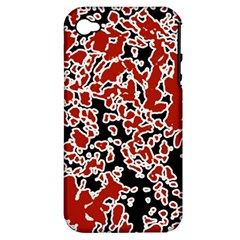 Splatter Abstract Texture Apple Iphone 4/4s Hardshell Case (pc+silicone) by dflcprints