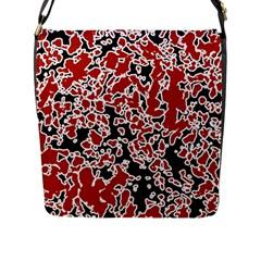 Splatter Abstract Texture Flap Messenger Bag (l)  by dflcprints