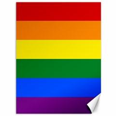 Pride Flag Canvas 36  X 48   by Valentinaart