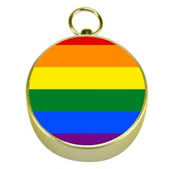 Pride Flag Gold Compasses by Valentinaart