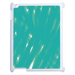 Background Green Abstract Apple Ipad 2 Case (white) by Nexatart