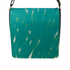 Background Green Abstract Flap Messenger Bag (l)  by Nexatart