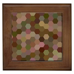 Brown Background Layout Polygon Framed Tiles by Nexatart