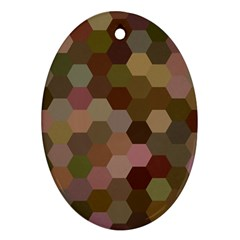 Brown Background Layout Polygon Ornament (oval) by Nexatart