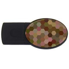 Brown Background Layout Polygon Usb Flash Drive Oval (2 Gb)
