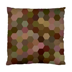 Brown Background Layout Polygon Standard Cushion Case (one Side) by Nexatart