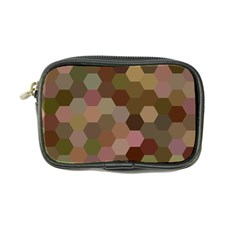 Brown Background Layout Polygon Coin Purse by Nexatart