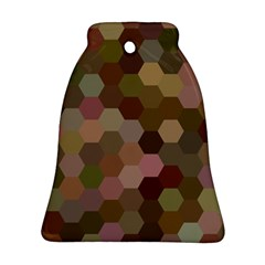 Brown Background Layout Polygon Ornament (bell)