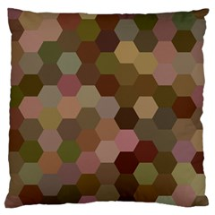 Brown Background Layout Polygon Large Cushion Case (one Side) by Nexatart