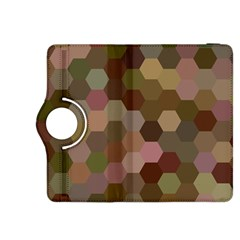 Brown Background Layout Polygon Kindle Fire Hdx 8 9  Flip 360 Case by Nexatart
