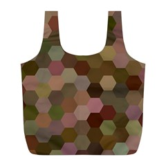 Brown Background Layout Polygon Full Print Recycle Bags (l)  by Nexatart