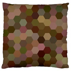Brown Background Layout Polygon Large Flano Cushion Case (one Side) by Nexatart