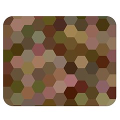 Brown Background Layout Polygon Double Sided Flano Blanket (medium)  by Nexatart