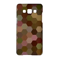 Brown Background Layout Polygon Samsung Galaxy A5 Hardshell Case  by Nexatart