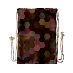 Brown Background Layout Polygon Drawstring Bag (small) by Nexatart