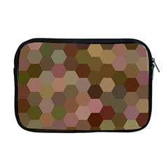 Brown Background Layout Polygon Apple Macbook Pro 17  Zipper Case by Nexatart