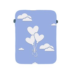 Clouds Sky Air Balloons Heart Blue Apple Ipad 2/3/4 Protective Soft Cases by Nexatart