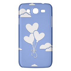 Clouds Sky Air Balloons Heart Blue Samsung Galaxy Mega 5 8 I9152 Hardshell Case  by Nexatart