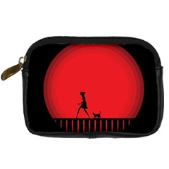 Girl Cat Scary Red Animal Pet Digital Camera Cases by Nexatart