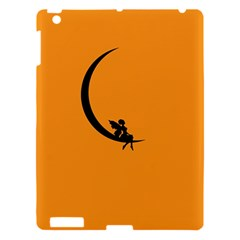 Angle Moon Scene Girl Wings Black Apple Ipad 3/4 Hardshell Case by Nexatart