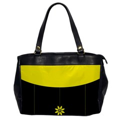 Flower Land Yellow Black Design Office Handbags by Nexatart