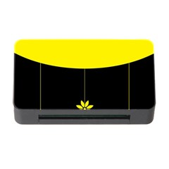 Flower Land Yellow Black Design Memory Card Reader With Cf by Nexatart