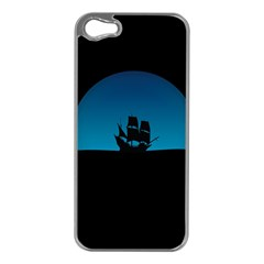 Ship Night Sailing Water Sea Sky Apple Iphone 5 Case (silver)
