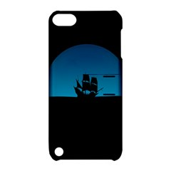 Ship Night Sailing Water Sea Sky Apple Ipod Touch 5 Hardshell Case With Stand by Nexatart
