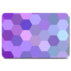 Purple Hexagon Background Cell Large Doormat  by Nexatart