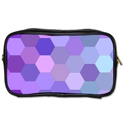 Purple Hexagon Background Cell Toiletries Bags by Nexatart