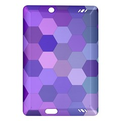Purple Hexagon Background Cell Amazon Kindle Fire Hd (2013) Hardshell Case by Nexatart