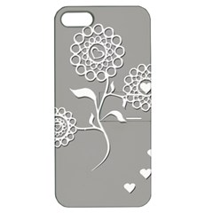Flower Heart Plant Symbol Love Apple Iphone 5 Hardshell Case With Stand by Nexatart