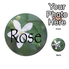Skull N Roses By Paul Dale   Multi Purpose Cards (round)   J4bch1etrn43   Www Artscow Com Back 30