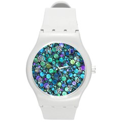 Lovely Shapes 2c Round Plastic Sport Watch (m) by MoreColorsinLife