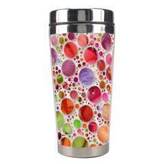 Lovely Shapes 2a Stainless Steel Travel Tumblers by MoreColorsinLife