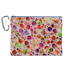 Lovely Shapes 2a Canvas Cosmetic Bag (xl) by MoreColorsinLife