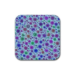 Lovely Shapes 3b Rubber Square Coaster (4 Pack)  by MoreColorsinLife